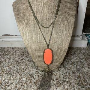 Kendra Scott Rayne Necklace Orange